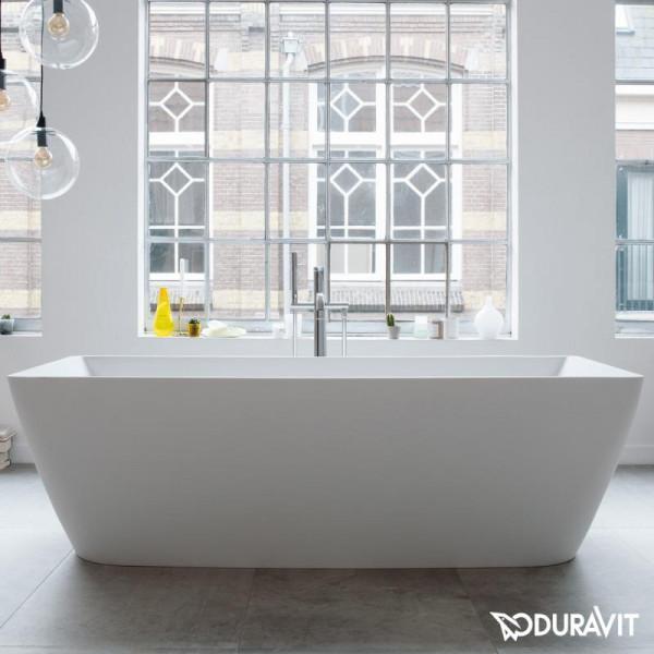 Duravit DuraSquare freistehende Rechteck-Badewanne mit Verkleidung