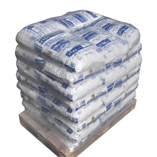 ASBIT Regenit Siede-Tablettensalz Palette mit 40 Säcken (Sack = 25 kg)