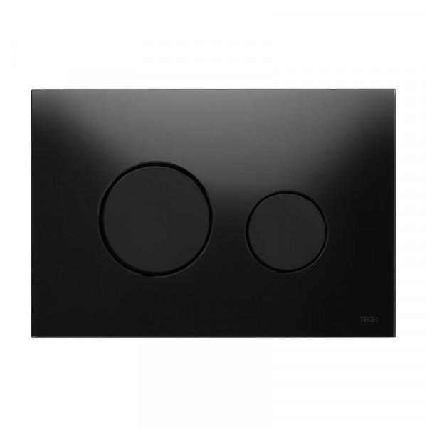 TECE loop Glas WC-Betätigungsplatte für 2-Mengen-Technik schwarz