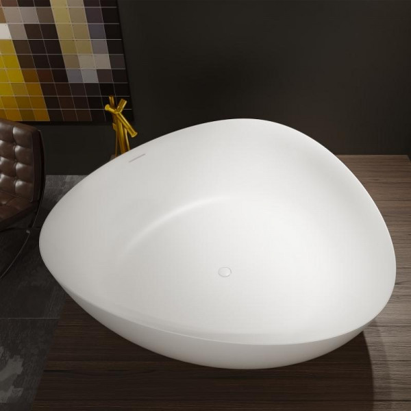 Riho Oviedo freistehende Badewanne 160 x 160 x 57 cm weiss seidenmatt