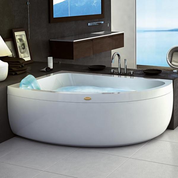 Jacuzzi AQUASOUL OFFSET Eck-Whirlpool mit Verkleidung, Einbau links ohne integrierten Wassereinlauf,