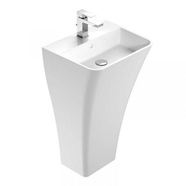 Treos Serie 710 Mineralguss Standwaschbecken 500 x 400 x 850 mm