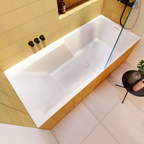 Riho Still Shower Rechteck-Badewanne mit Duschzone 180 x 80 cm