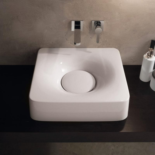 Scarabeo Fuji Aufsatz- oder Hängewaschbecken 50 x 43,5 cm weiß