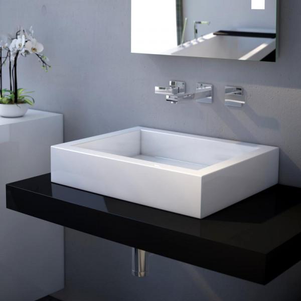 Treos Serie 710 Mineralguss Aufsatz Waschbecken 50 x 40 cm