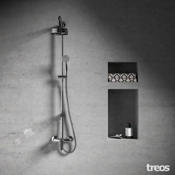 Treos Serie 199 Retro Duschsystem mit Regenbrause