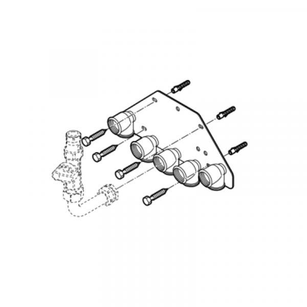 Weishaupt Unterputz-Montageplatte WTC-GW 15/25-B Typ WHU
