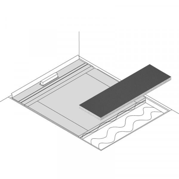 poresta systems Poresta Limit S 95 Erweiterungselement mit Gefälle 1200 x 600 x 98/105 mm