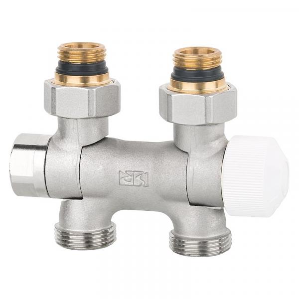 Thermostat-Ventilblock Flex DN15 x DN20 Eurokonus für Ein-und Zweirohrbetrieb