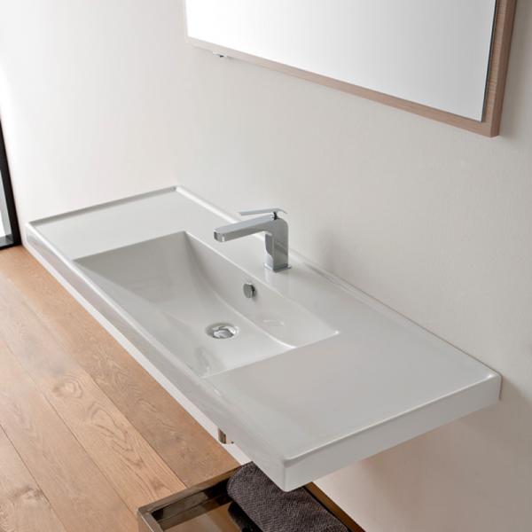 Scarabeo ML Einbau- oder Hängewaschbecken 121 x 46,5 cm