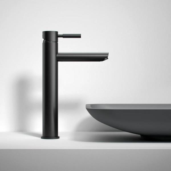 Treos Serie 190 Einhebel-Waschtischarmatur ohne Ablaufgarnitur, schwarz matt