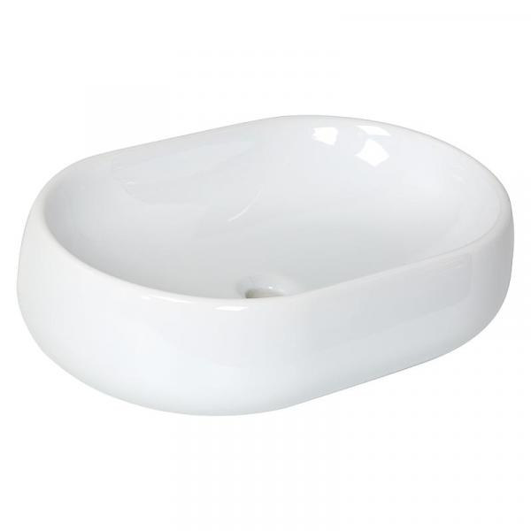 Azzurra Aufsatz-Waschbecken NUVOLA 600x160x400 mm Keramik Weiß
