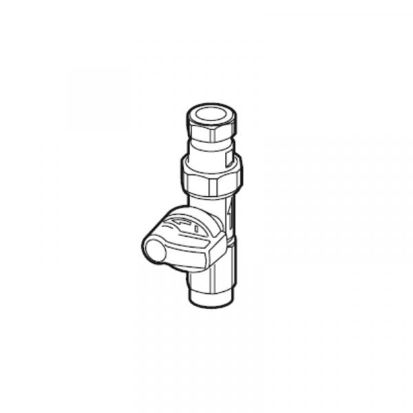 Weishaupt Gas-Durchgangshahn Rp 3/4 I x 22 mm