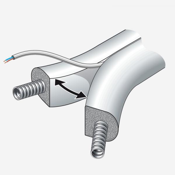 Weishaupt Flex-Doppelrohr-Systemleitung Splitt WLSol DN20/25 VL/RL 25 m mit Fühlerkabel