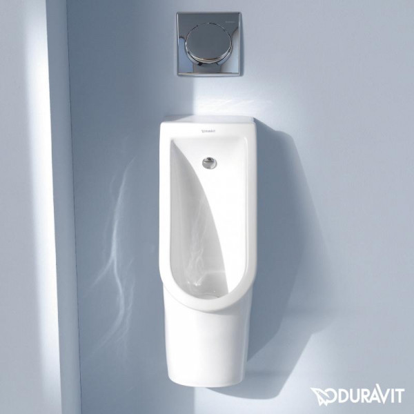 Duravit Starck 3 Urinal Zulauf von hinten weiß