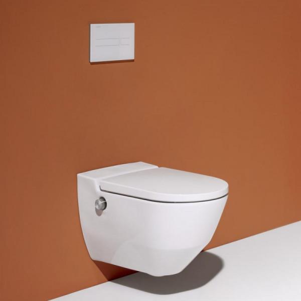 Laufen Cleanet Navia Dusch-WC Komplettanlage, mit WC-Sitz weiß, mit Clean Coat