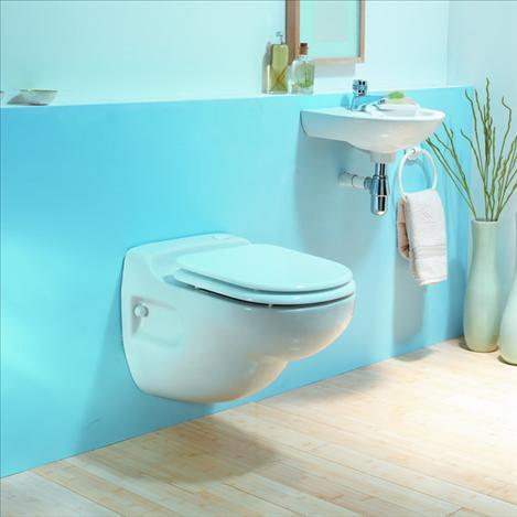 SFA Sanicompact Star Wand-WC mit integrierter Hebeanlage pergamon