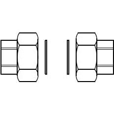 Viessmann Rohrverschraubung G 2 x Rp 1 1/4 (Satz)