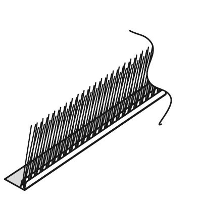 Weishaupt Bürstenleiste B-IV Indach vertikal (zur Abdichtung Blech und Dachpfanne)