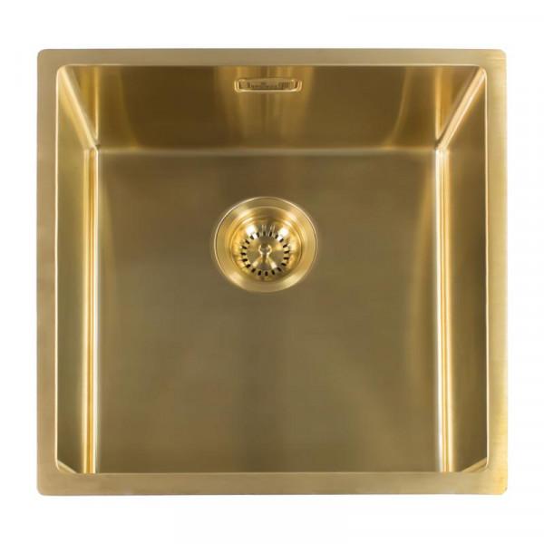 Reginox New York 40 x 40 Küchenspüle 440 x 440 mm Comfort Gold FLax