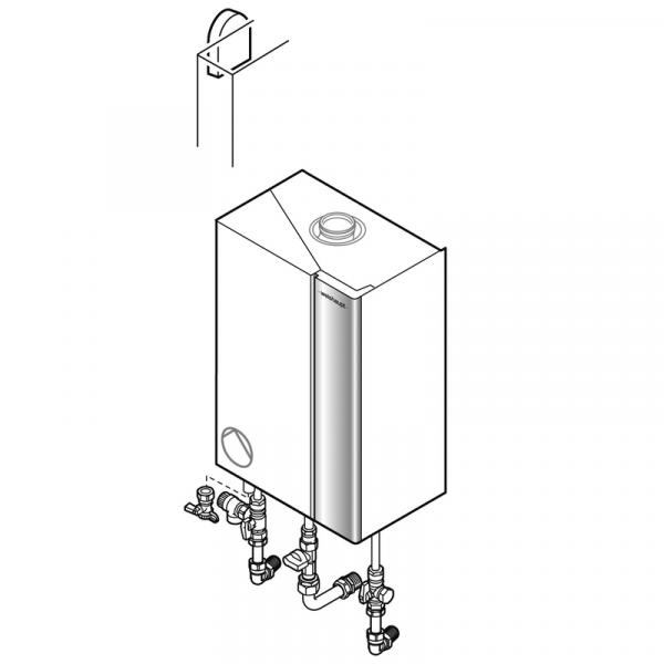 Weishaupt Paket WTC-GW 25-B H, Unterputz Gas-Brennwertgerät