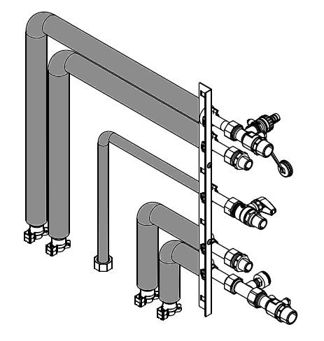 Viessmann Anschluss-Set für Aufputzinstallation seitlich