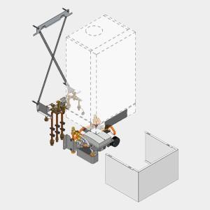 Viessmann Unterbau-Kit mit Mischer Vitodens 200-W Umlauf