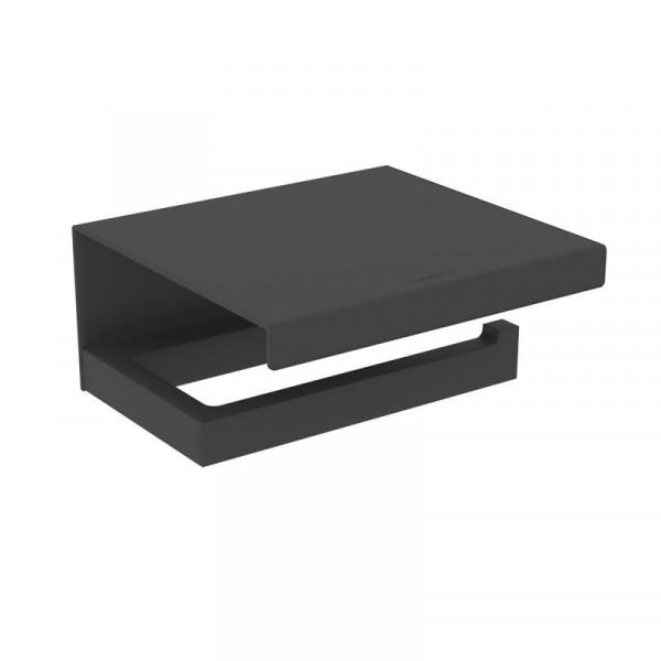 Cosmic The Grid Papierrollenhalter mit Deckel schwarz matt