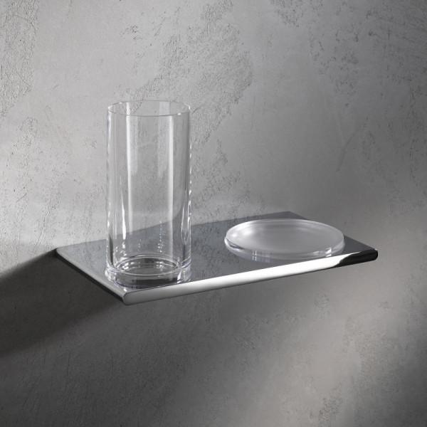 Keuco Edition 400 Doppelhalter mit Glas und Seifenschale