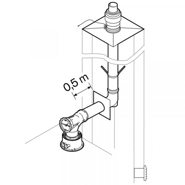Weishaupt Abgassystem DN80 raumluftabhängig 10 m starr, INOX