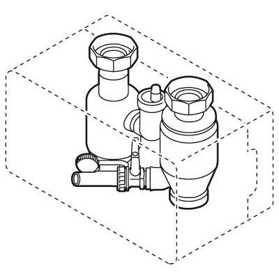 Weishaupt Luft- und Sediment-Abscheide-Set G 1 1/2 Typ WHL 1.0