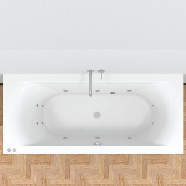 Riho Lima Easypool 3.0 Badewanne Rechteck-Whirlpool mit mechanischer Bedienung