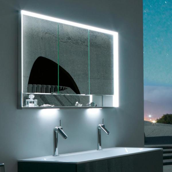 Keuco Royal Lumos Unterputz-Spiegelschrank mit LED-Beleuchtung mit 3 Türen