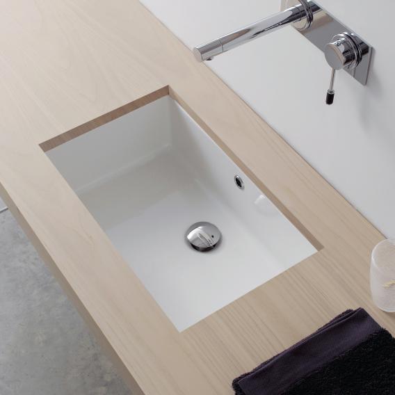 Scarabeo Miky Unterbauwaschbecken 80 x 32 cm weiß, mit Überlauf