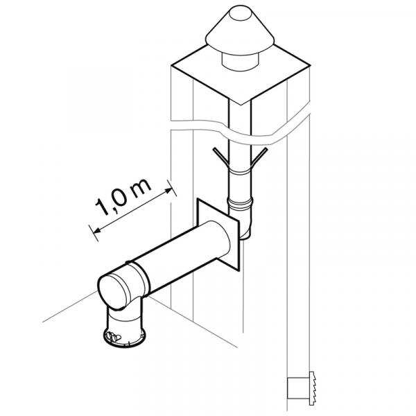 Weishaupt Abgassystem DN100/60 raumluftunabhängig 10 m starr, INOX