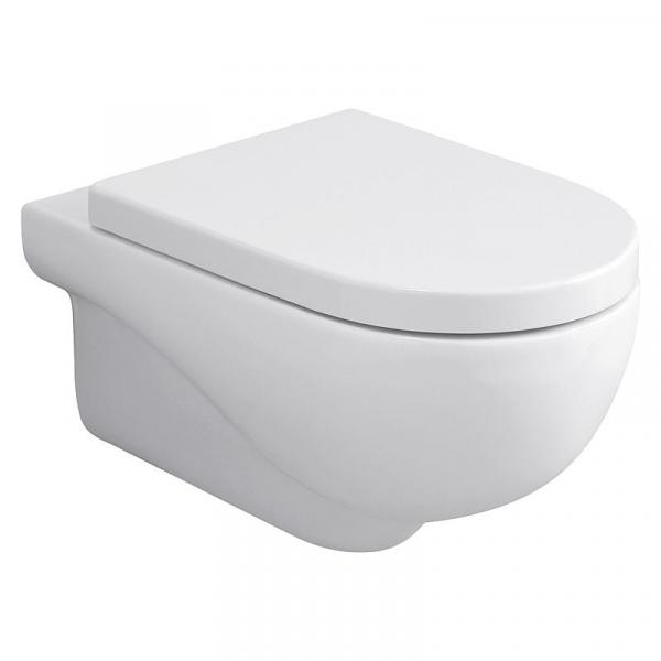 Azzurra Wand-Tiefspül-WC Nuvola spülrandlos weiß 350x335x550 mm