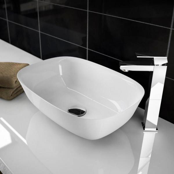 Treos Serie 730 Mineralguss Aufsatz Waschbecken 460 x 320 x 152 mm
