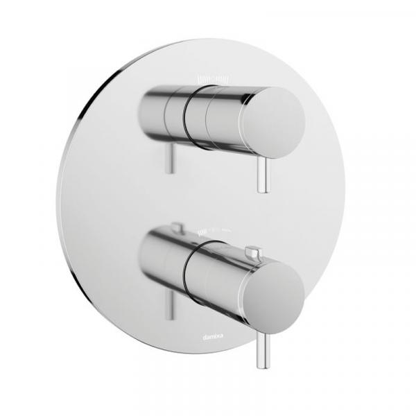 Damixa Unterputz 2-Wege-Thermostat, Fertigset rund chrom