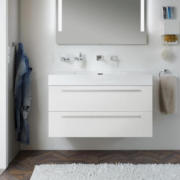 Treos Serie 900 Mineralgussbecken mit Waschtischunterschrank mit 2 Auszügen