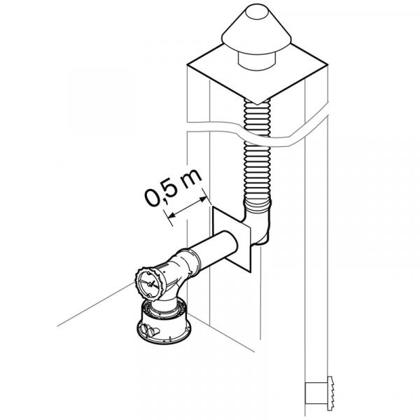 Weishaupt Abgassystem DN60 raumluftabhängig 12,5 m flexibel