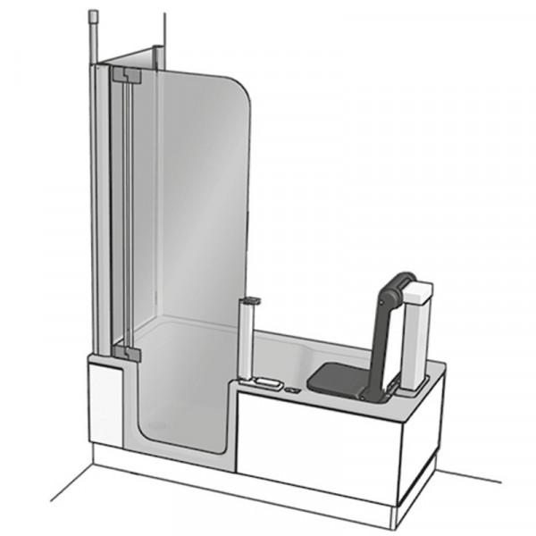 Artweger Artlift Duschbadewanne mit Seitenwand und Hebesitz