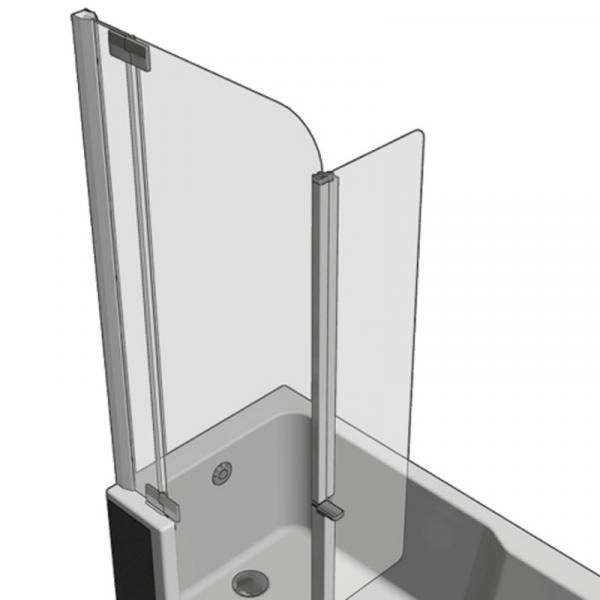 Artweger Artlift Spritzschutz schwenkbar Metall-hochglanz, ArtClear Glas