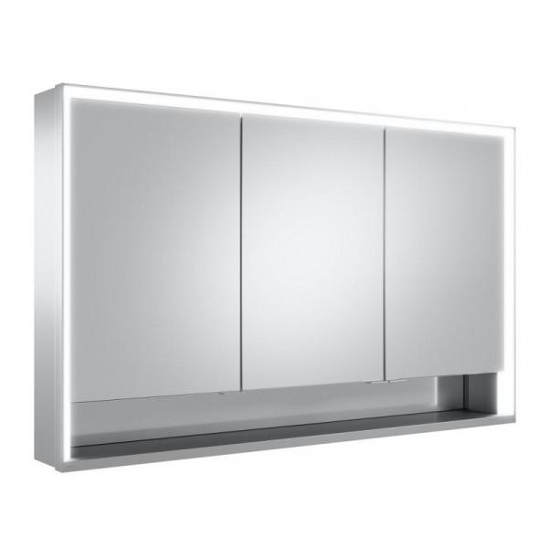Keuco Royal Lumos Aufputz-Spiegelschrank 120 cm, mit LED-Beleuchtung mit 3 Türen