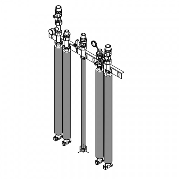 Viessmann Anschluss-Set für Aufputzinstallation nach oben