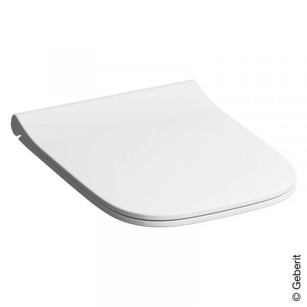 Geberit Smyle Square WC-Sitz, schmales Design, Sandwichform