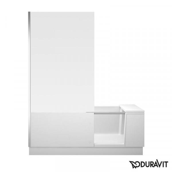 Duravit Shower + Bath Badewannne mit Duschzone, 170x75 cm links, weiß verspiegelt