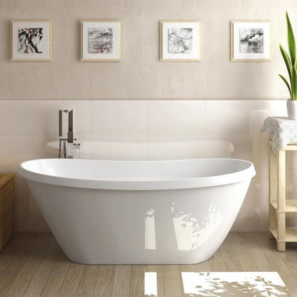 Treos Serie 710 freistehende Mineralguss Badewanne 170 x 71 x 64,9 cm