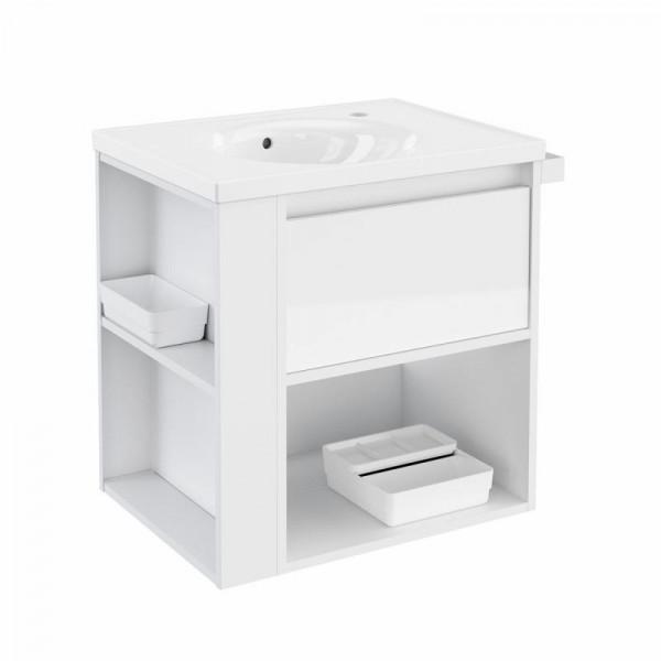 Cosmic b-smart Waschtisch aus Porzellan und Unterschrank