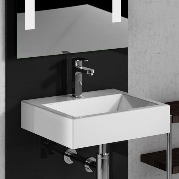 Treos Mineralguss Waschbecken Handwaschbecken 420 x 360 mm