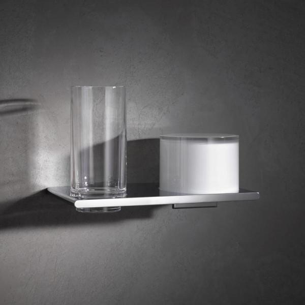 Keuco Edition 400 Doppelhalter mit Glas und Lotionspender
